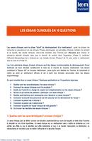 10 qustions sur les essais cliniques